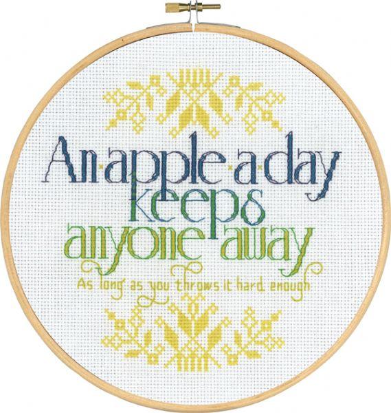 Broderi An apple a day