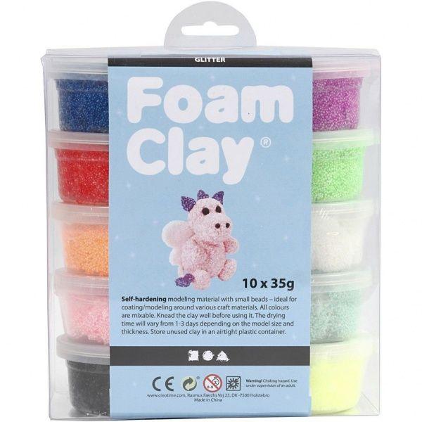 Foam Clay, glitter