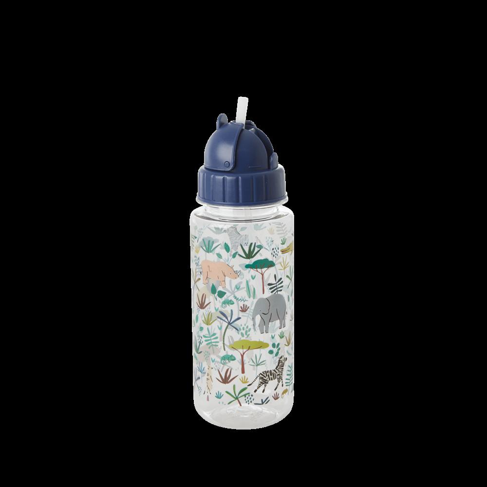 Drikkeflaske jungeldyr, blå