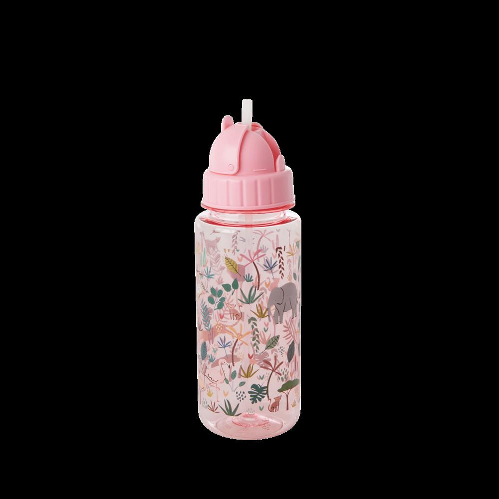 Drikkeflaske jungeldyr, rosa