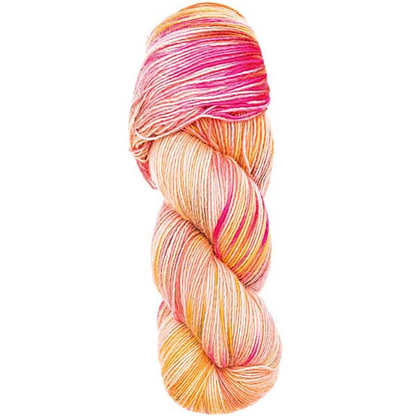 Hand-dyed happiness rosa/gul
