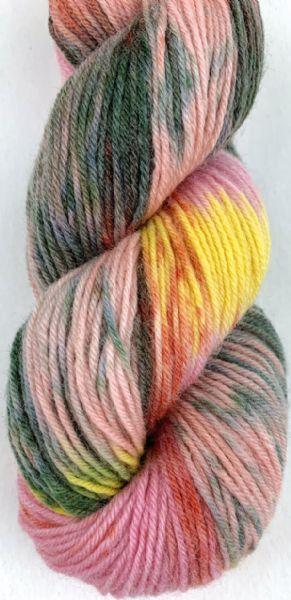 Selma håndfarget, farge 880803 gammelrosa/grønn