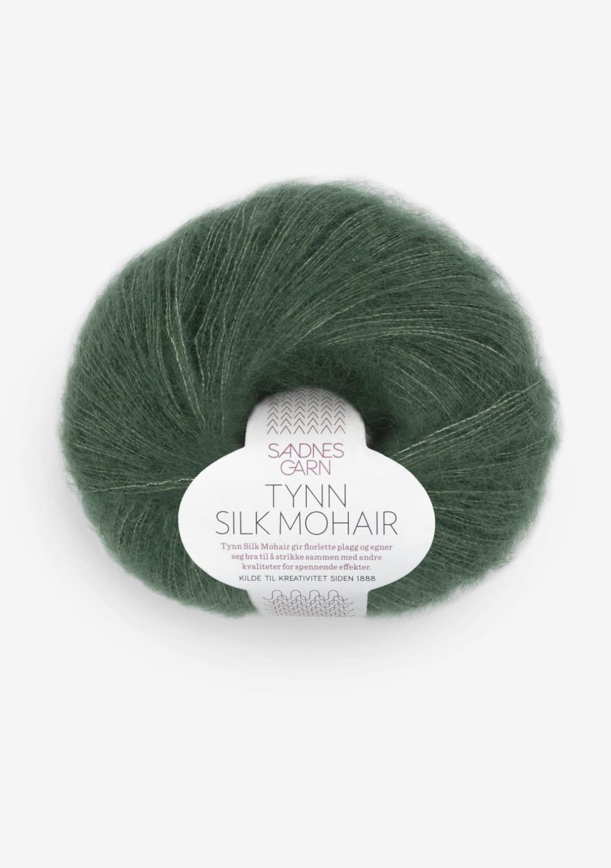 Tynnn silk mohair dyp skoggrønn 8581