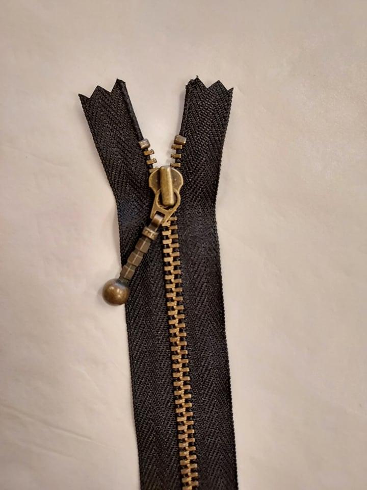 YKK 4mm glidelås 35cm sort
