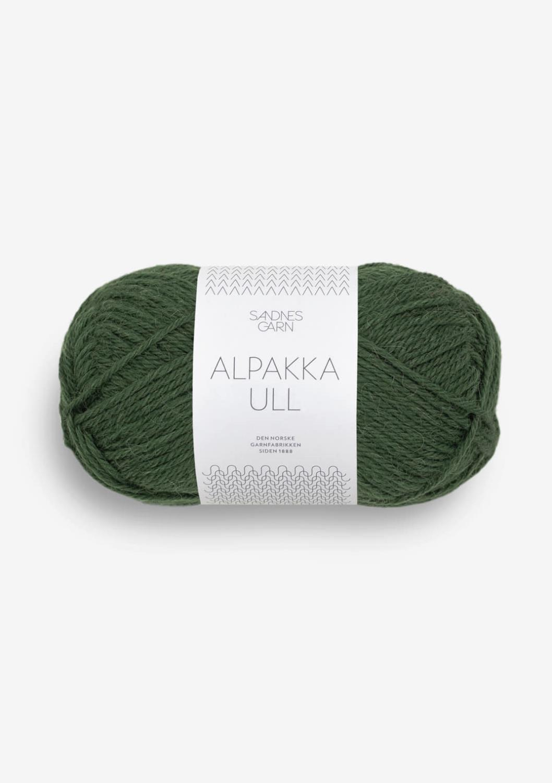 Alpakka ull skoggrønn 8082