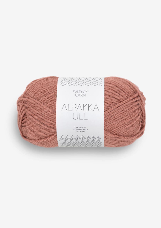 Alpakka ull støvet plommerosa 3553