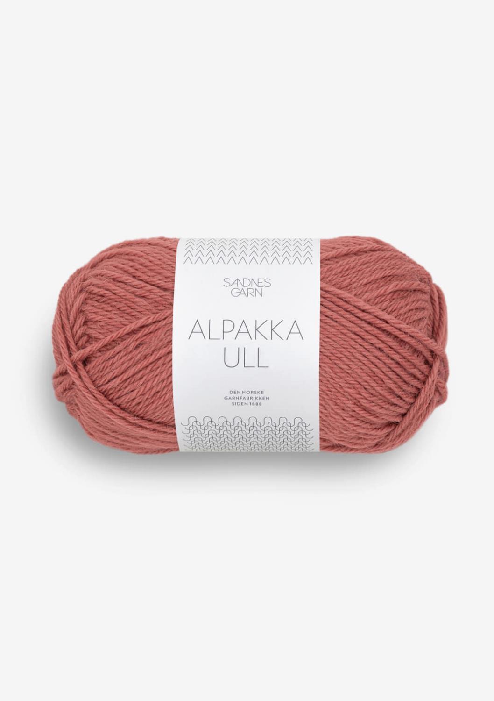 Alpakka ull marsala 4034
