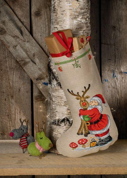 Julestrømpe Nisse og Rudolf