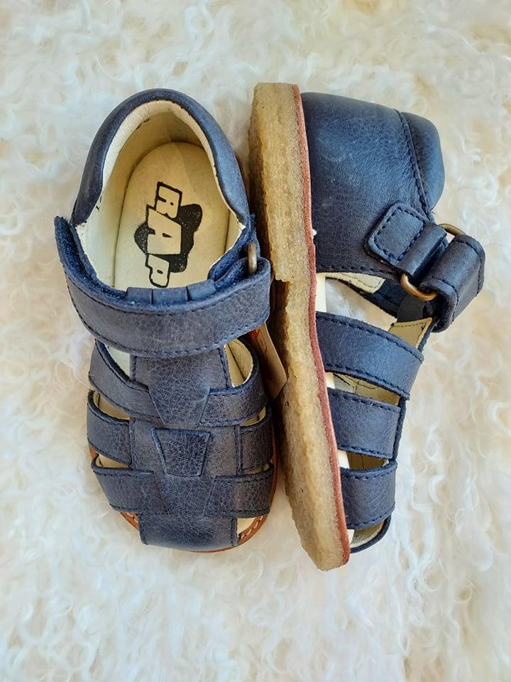 Sandal i skinn Navy, 24/27