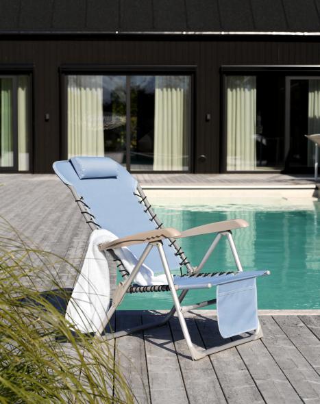 Ulrika strandstol /lysblå