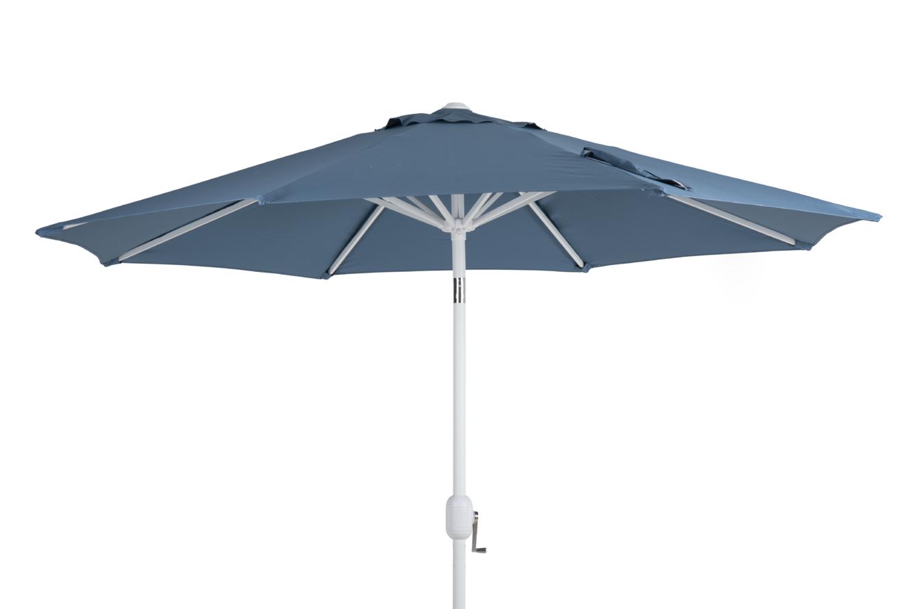 Cambre parasoll hvit - blå 300 cm