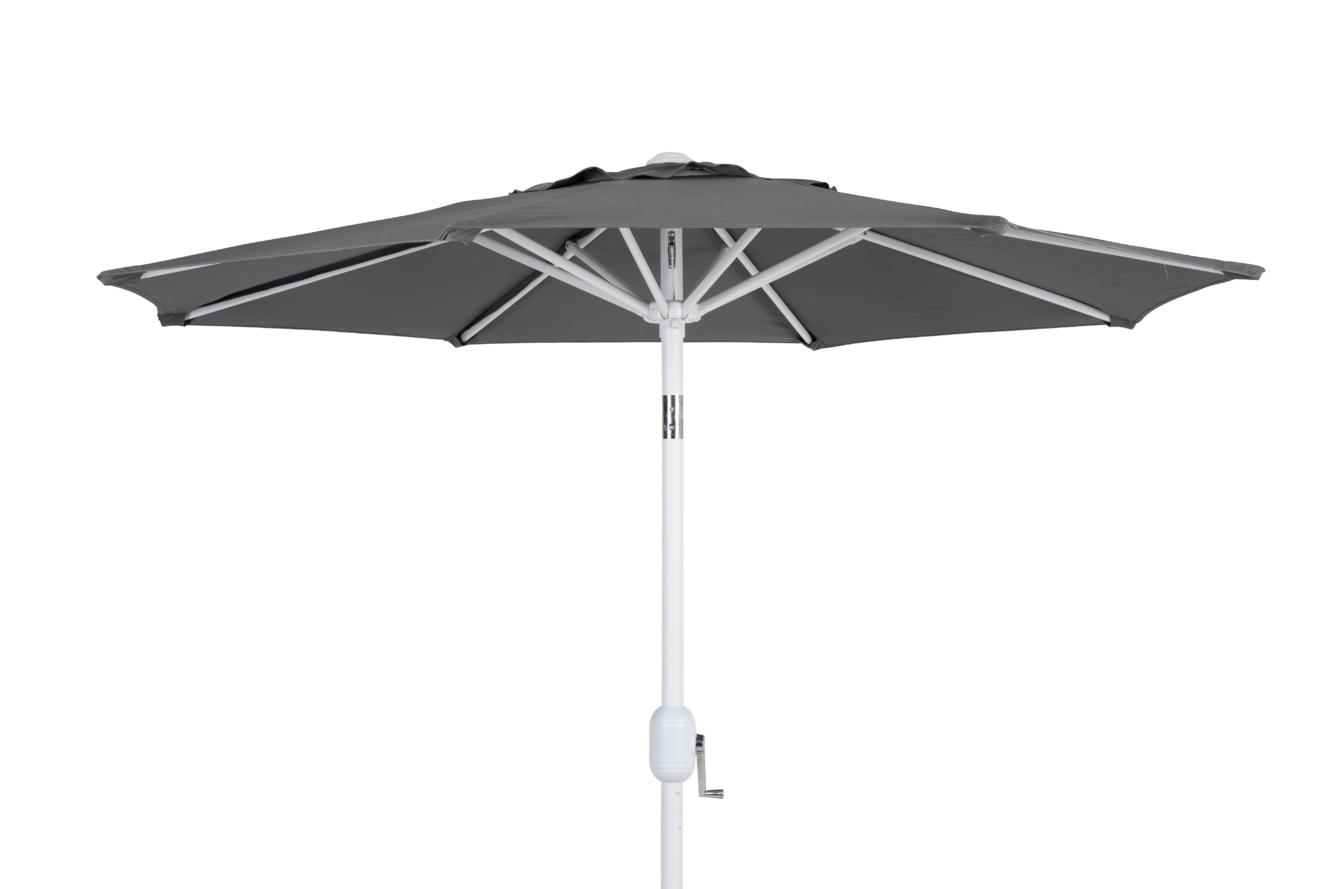 Cambre parasoll hvit - grå 300 cm