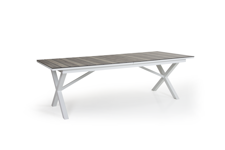 Hillmond uttrekksbord 160/220x100 (hvit/natur)