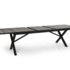 Hillmond ekstra langt uttrekksbord 240/310x100 (sort/natur)