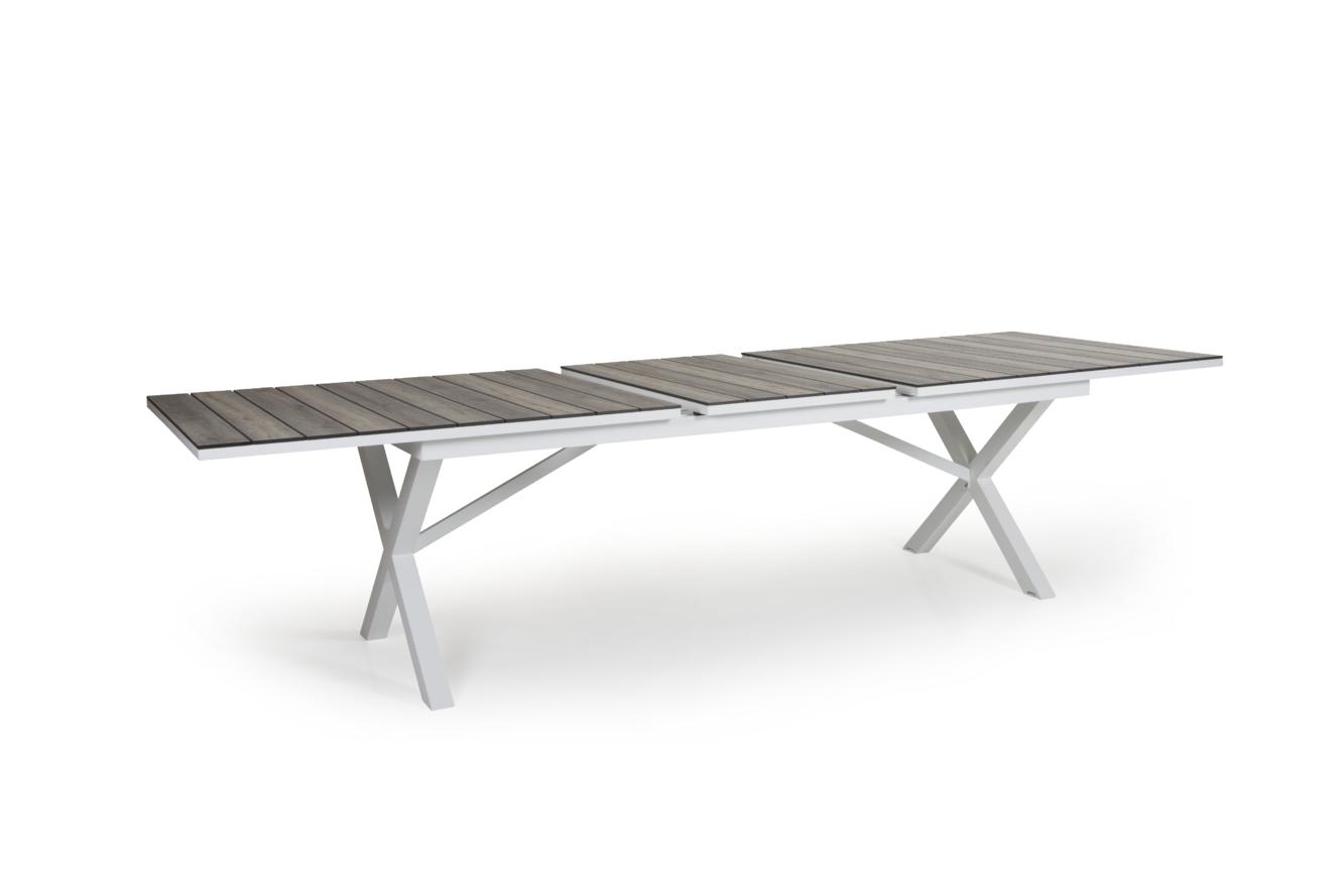 Hillmond ekstra langt uttrekksbord 240/310x100 (hvit/natur)