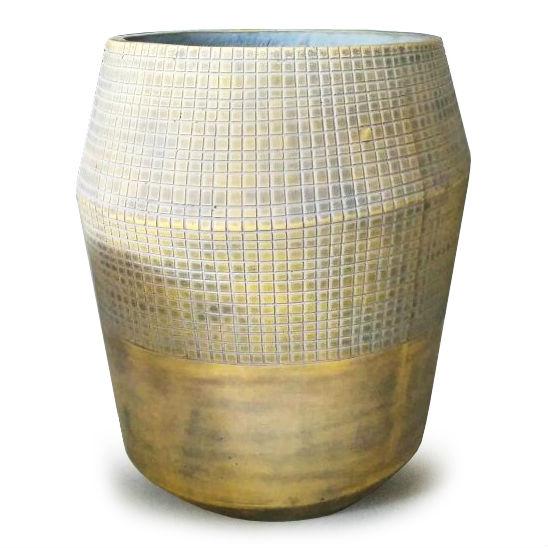 Potte decor cement gul (stor)