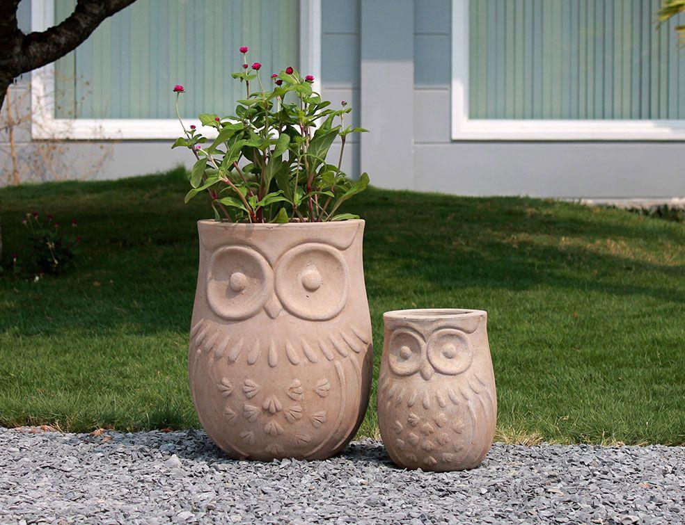 Terracotta krukke/Ugle (liten)