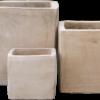 Terracotta krukke/firkantet (H50 W50)