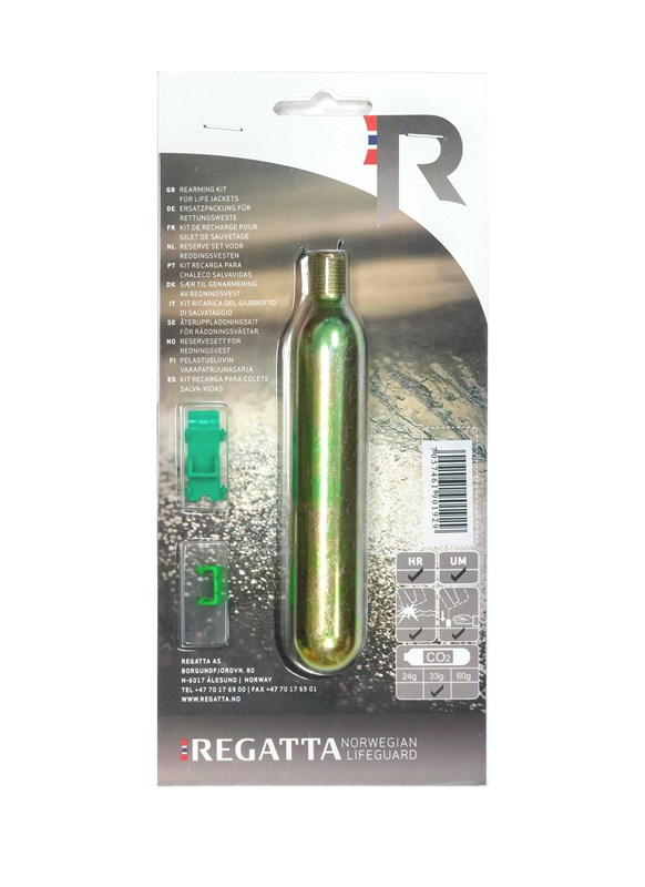 Regatta Co2 Sylinder med HR/UM klips
