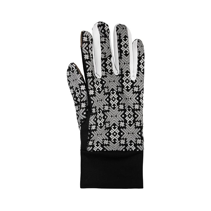 Morild Glitre hanske sort/hvit