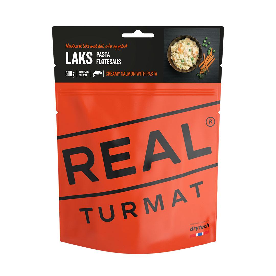 Real Turmat Laks med pasta og fløtesaus