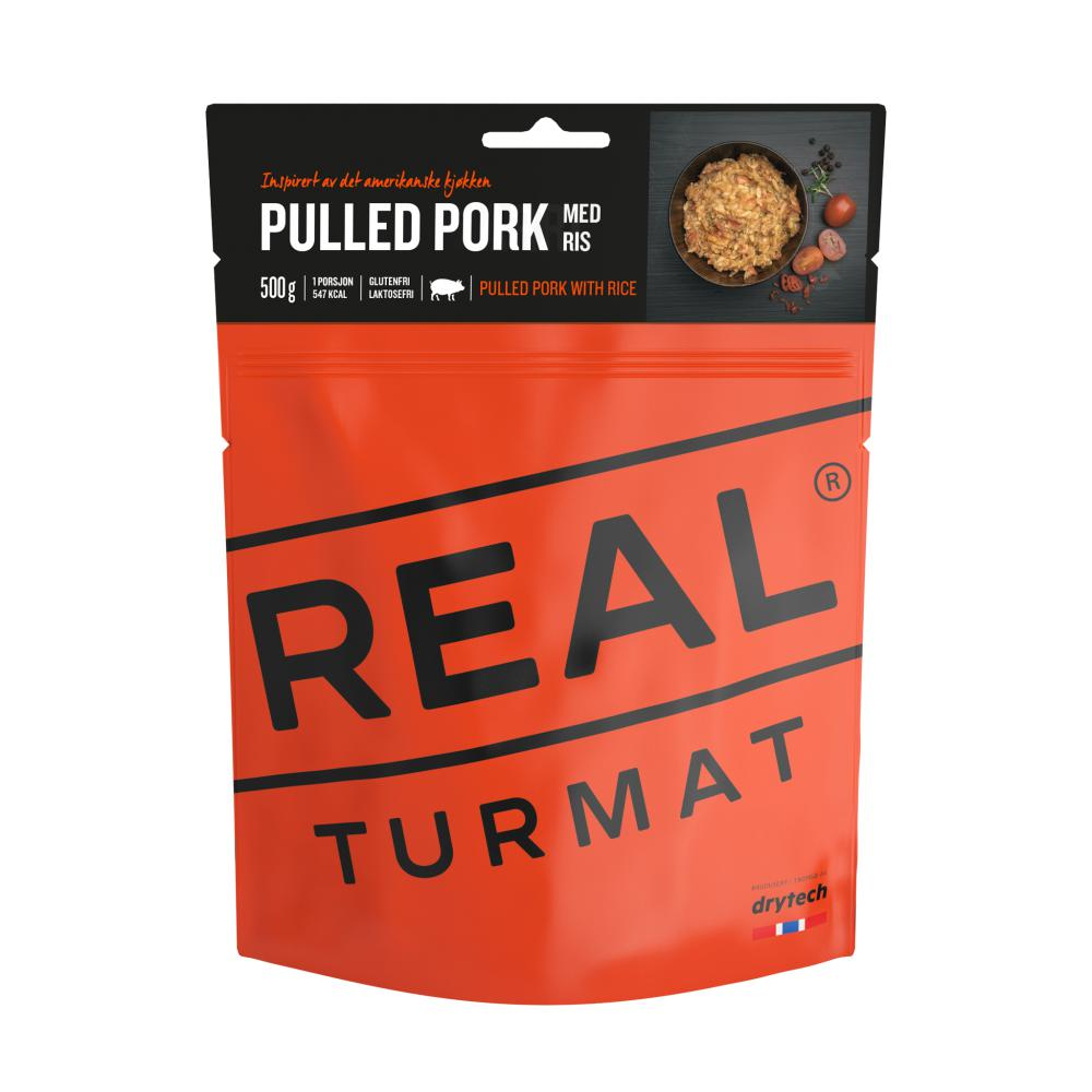 Real Turmat  Pulled pork med ris 500 gr