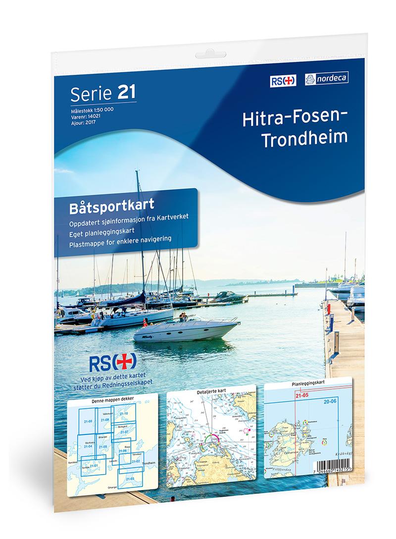 Båtsportkart 21 Fosen-Trondheim 1:50000
