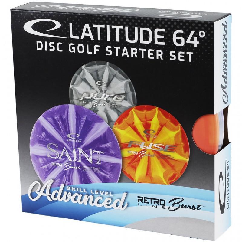 Latitude 64  Retro Burst Advanced Disc Golf Starter Set