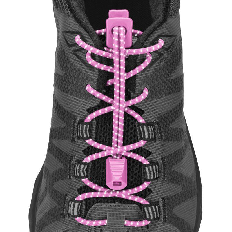 Nathan  Reflective Run Laces Pink OS