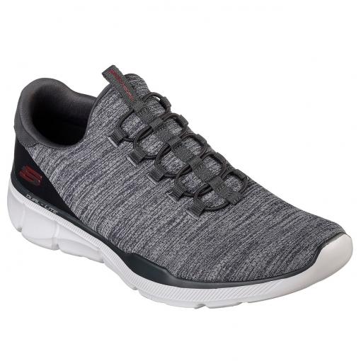 Skechers Equalisers 3.0 Black/Grey Mens