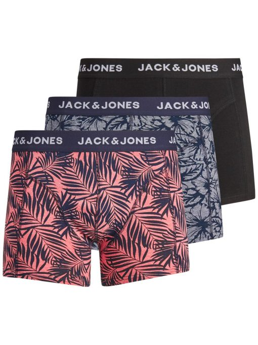 JACK & JONES JACBOB TRUNKS 3 PACK FIERY RED