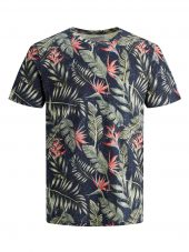 JACK & JONES JORELI AOP TEE SS CREW NECK JR