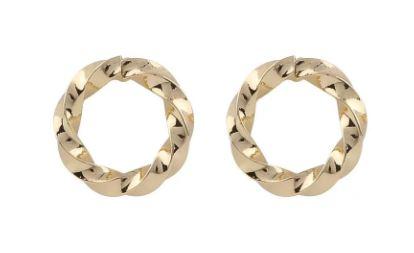 """Ørepynt """"gull"""" vridd åpen ring"""
