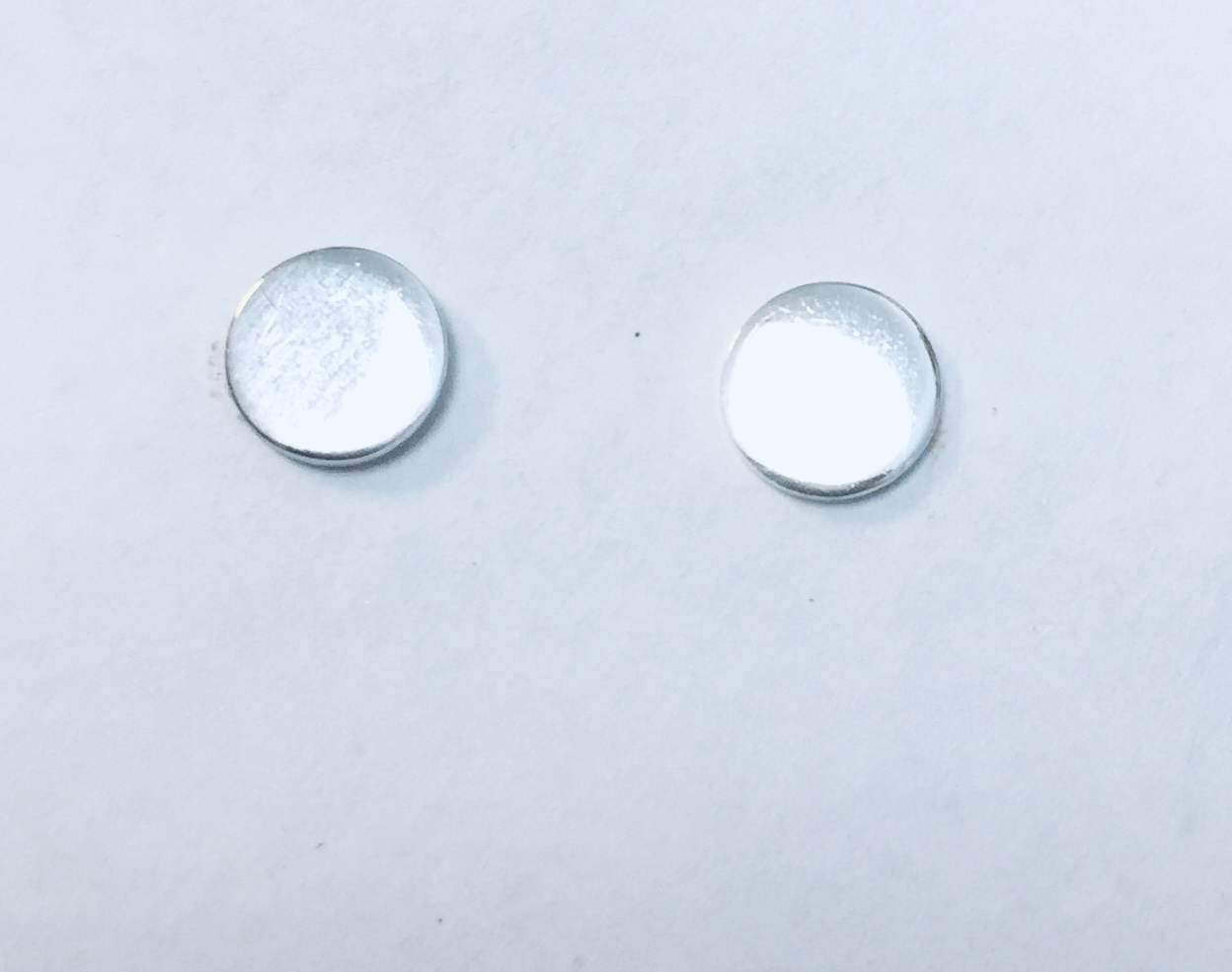 ØREPYNT RH.SØLV RUND GLATT PLATE 6mm