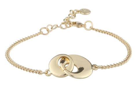 """Armlenke """"gull"""" to chunky ringer i hverandre 16+3cm"""