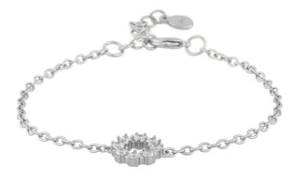 """Armlenke """"sølv"""" åpen rosett-ring på tynn ankerkj 16+3cm"""