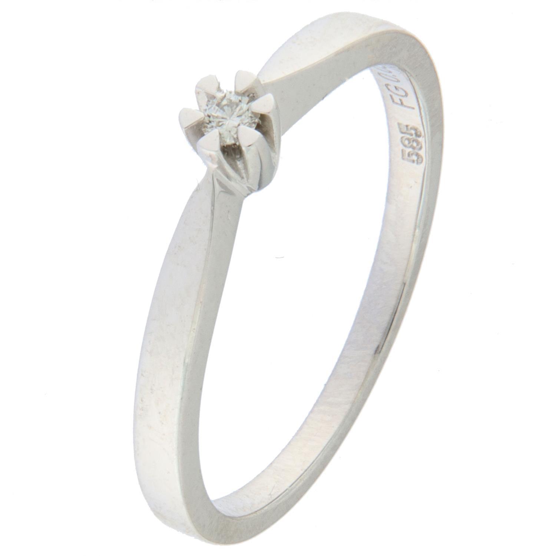 Ring hv.g 0,08ct WP1 Princess (Veil. 5990,-)