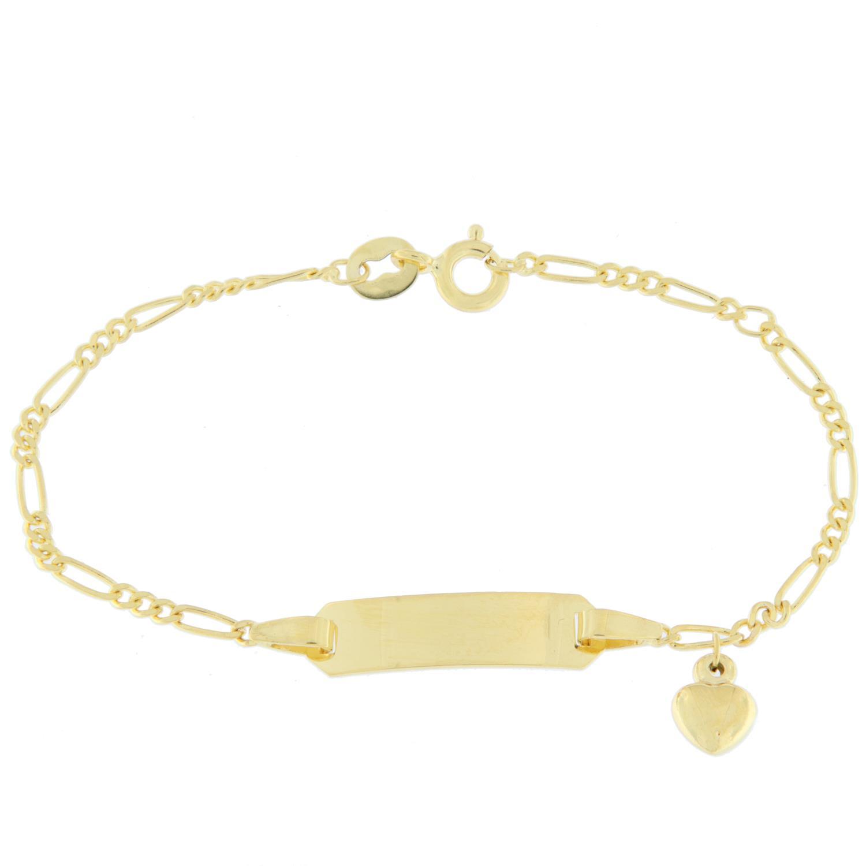 V-lenke gull 12+2cm figaro m/hjerte-charms