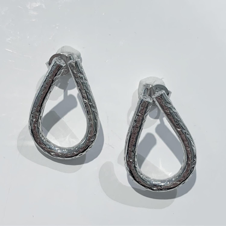 Øreheng rh.sølv hamret bue