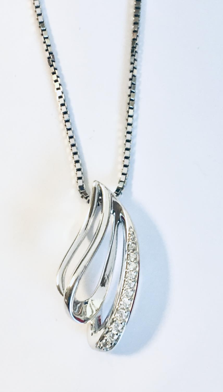 Anheng rh.sølv m/c.zirconer