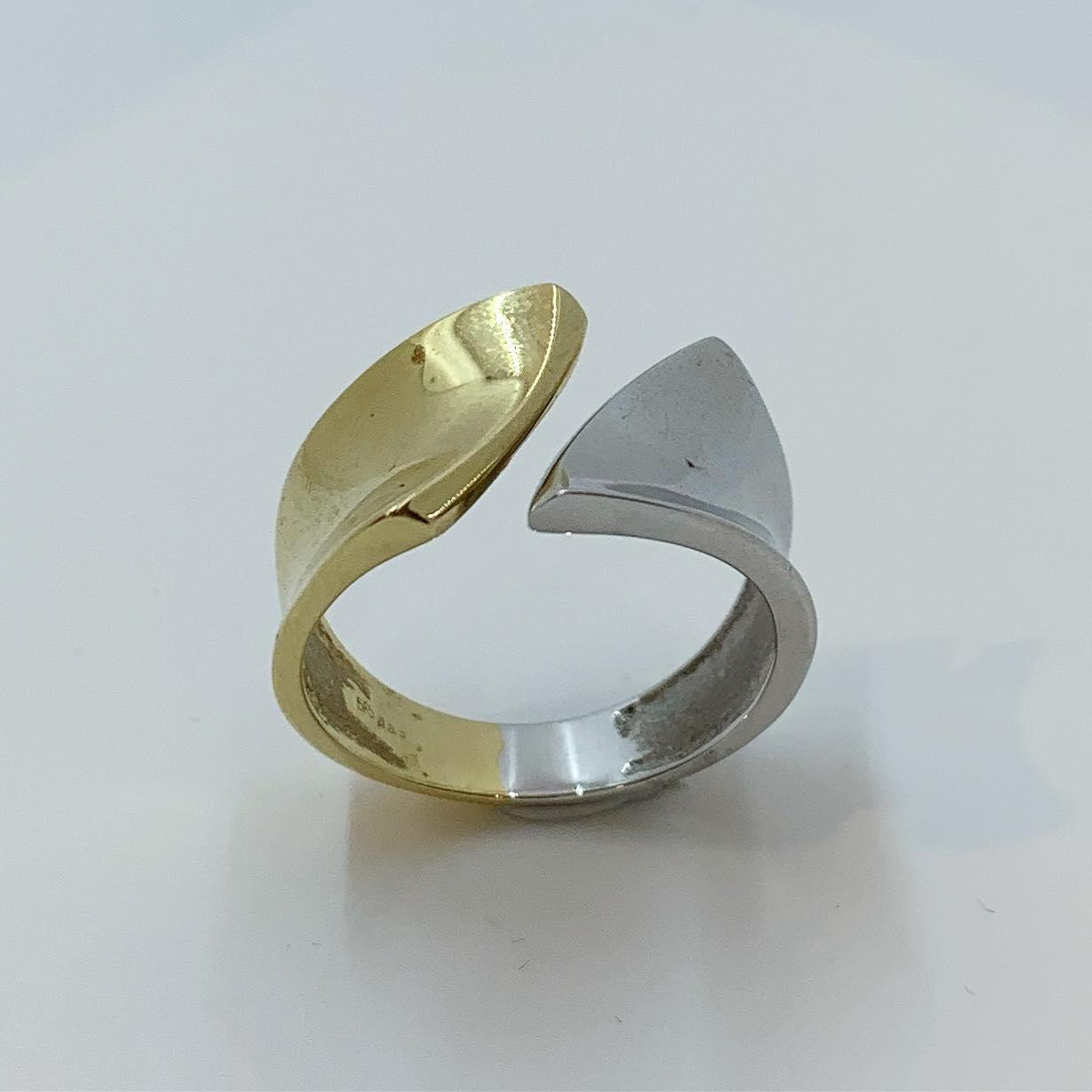 Ring bicolor bred m/åpen topp