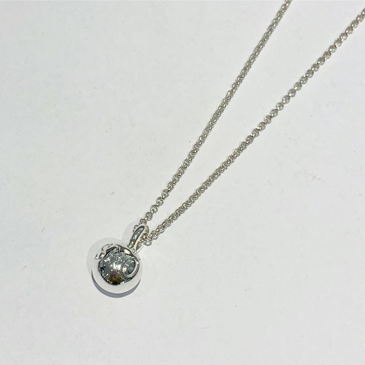 """Collier """"sølv"""" m/kule m/logo på 40cm kjede plain"""