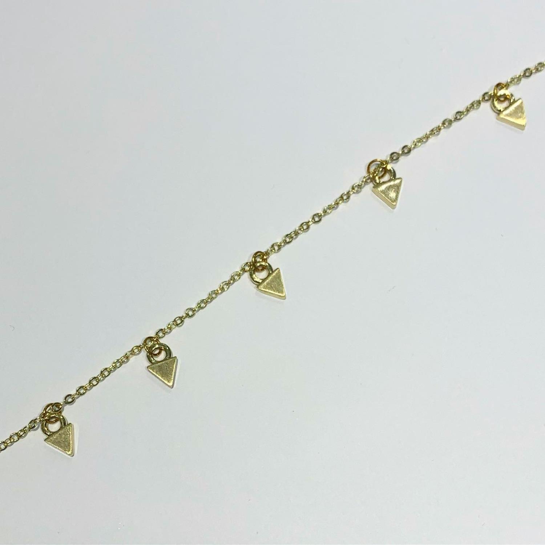"""Armlenke """"gull"""" m/charms små trekanter"""