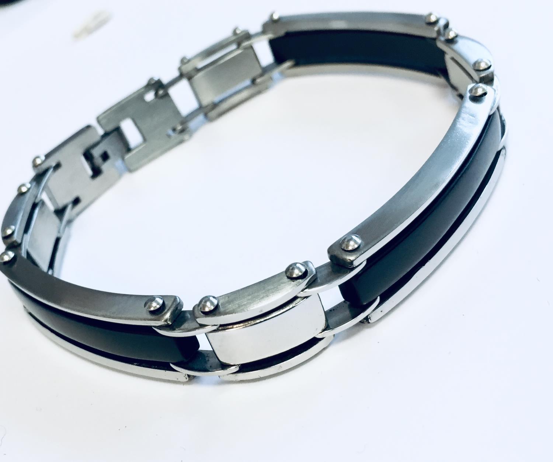 Armlenke stål/sort 22cm leddet