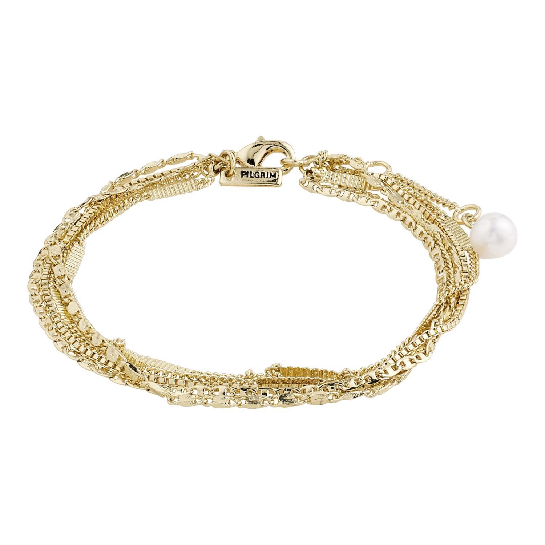 """Armlenke """"gull"""" 5rader m/fv.perle på enden"""