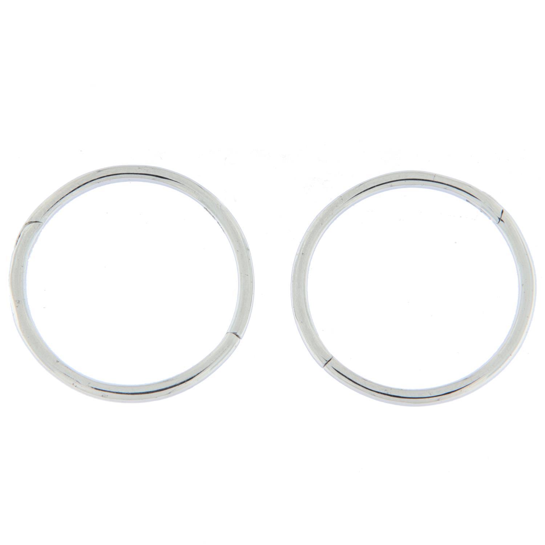 Ørering rh.sølv glatt 15ø rundt rør m/innebygd hengsle