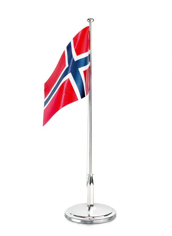 Bordflagg 30cm forniklet i gaveeske