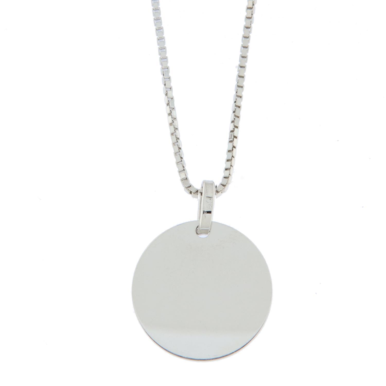 Anheng rh.sølv rund plate 16mm