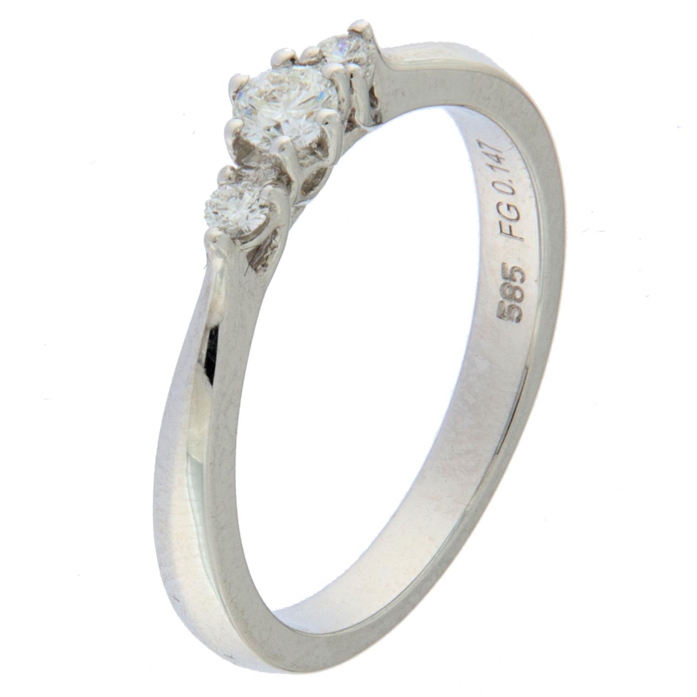 Ring hv.gull 0,147ct TWSI Trillennium frierring (Veil. 8990,-)