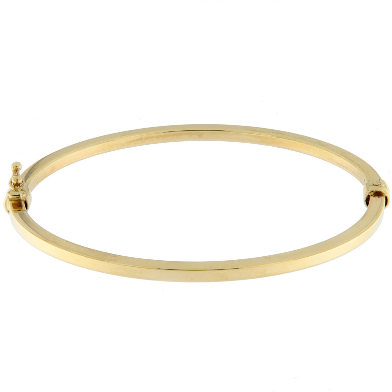 Armring gull 3mm glatt firk.profil m/lås